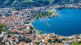 Como lago di Como in Lombardia