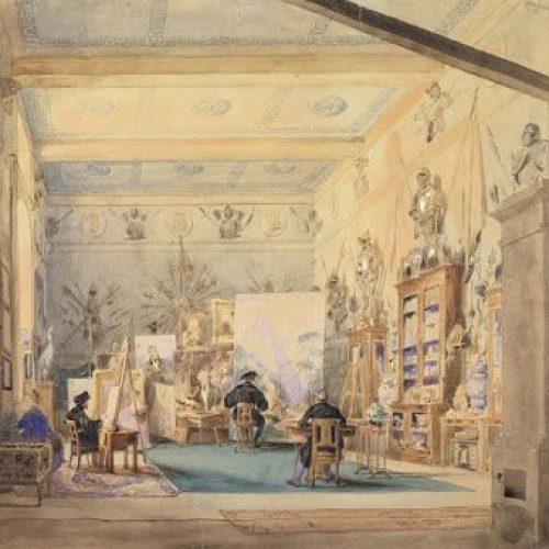 Acquerello di Franscesco Gonin - 1835