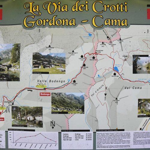 Val Bodengo Via dei Crotti mappa