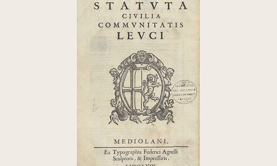 Statuta civilia communitatis Leuci (1669)