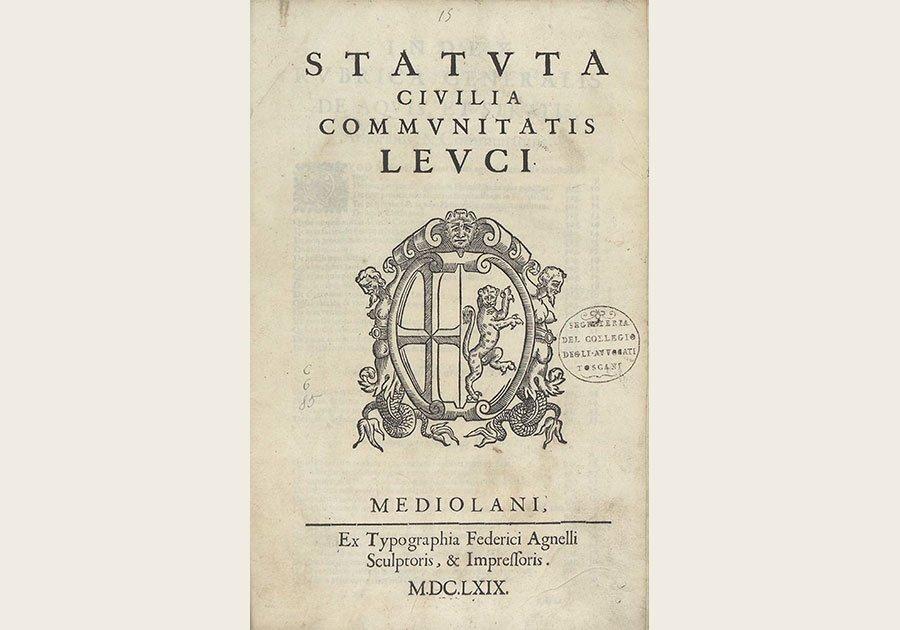 Lecco-Statuta-civilia-communitatis-Leuci-1669