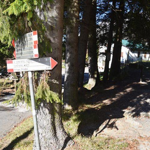 Inizio sentiero delle Foppe ai Piani Resinelli