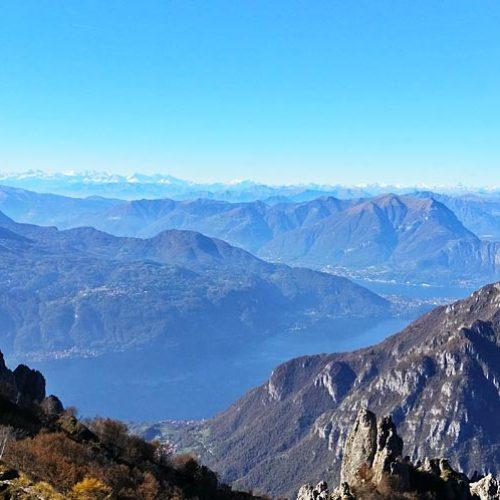 Grignetta panorama sul lago di Como