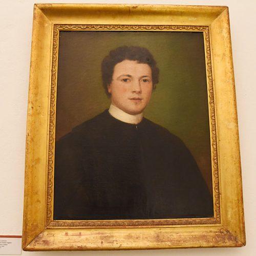 Dipinto di Antonio Stoppani seminarista