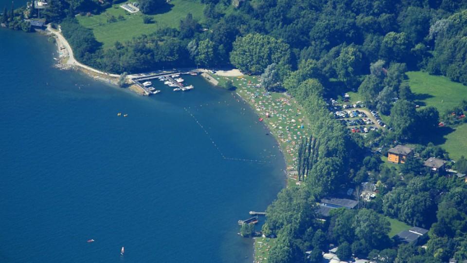 Spiaggia di Colico lago di Como