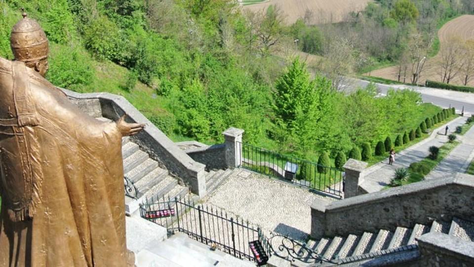 Santuario Madonna del Bosco Imbersago scalinata