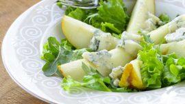 insalata pere gorgonzola noci