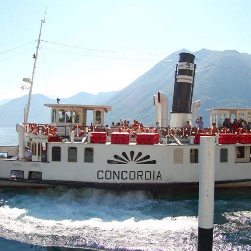 Battello a vapore piroscafo Concordia