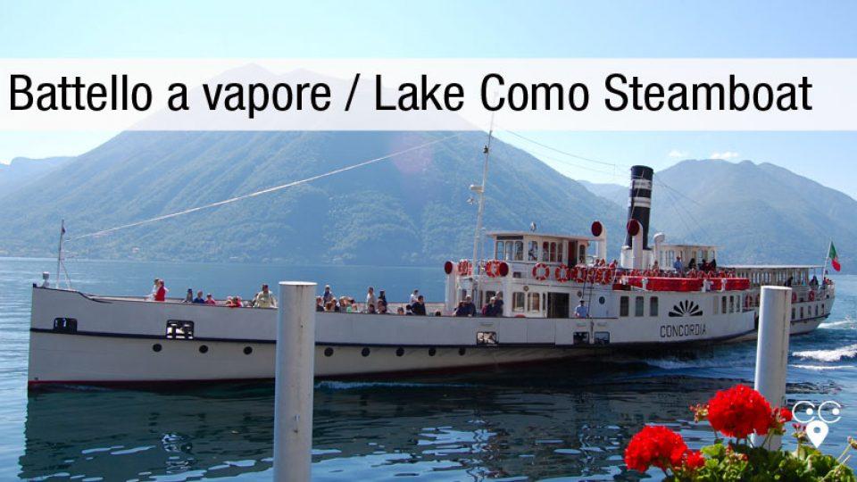 Battello a vapore lago di Como