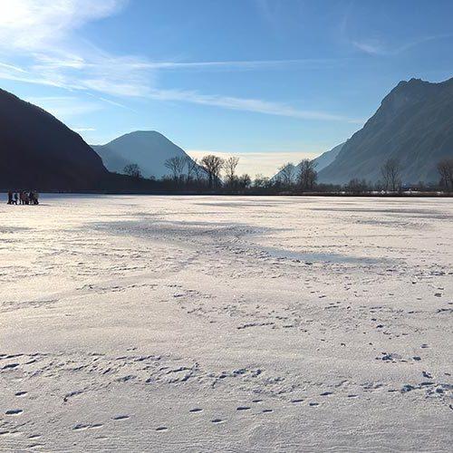 Lago di Piano ghiacciato - Carlazzo - Como -