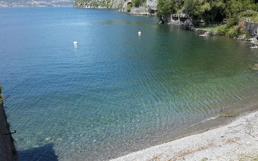 spiaggia bau bau olivedo lago di Como