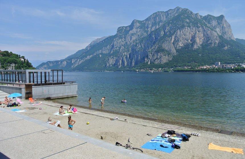 Spiaggia a Malgrate
