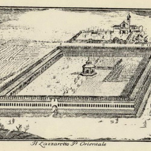 Lazzaretto - pianta storica: veduta da Porta Orientale
