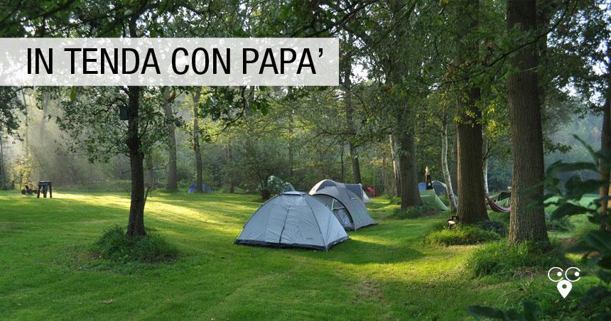 lecco estate in tenda con papà