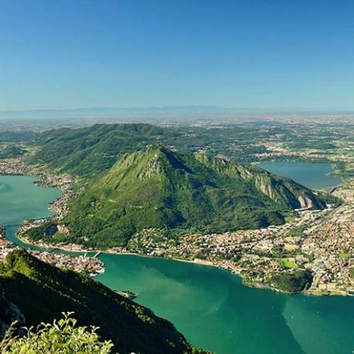 Panorama dal San Martino a Lecco