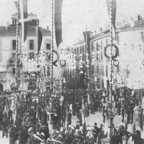 Lecco - Inaugurazione Monumento a Alessandro Manzoni
