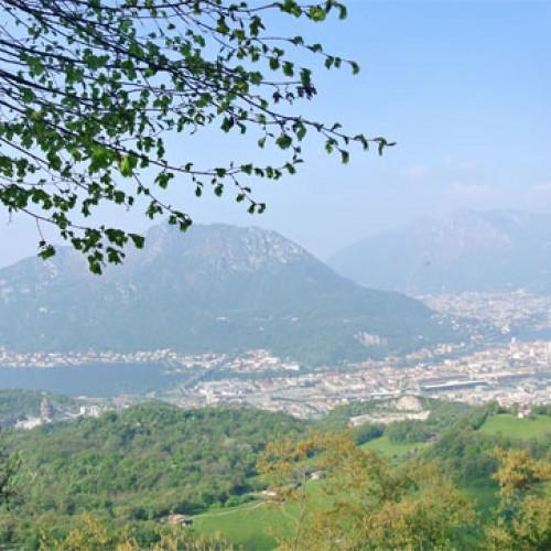 Vista su Lecco, Monte Barro e Moregallo da Campo de Boi