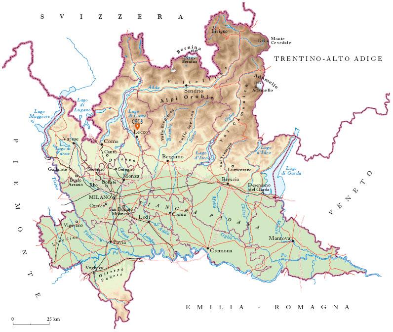 Lombardia mappa