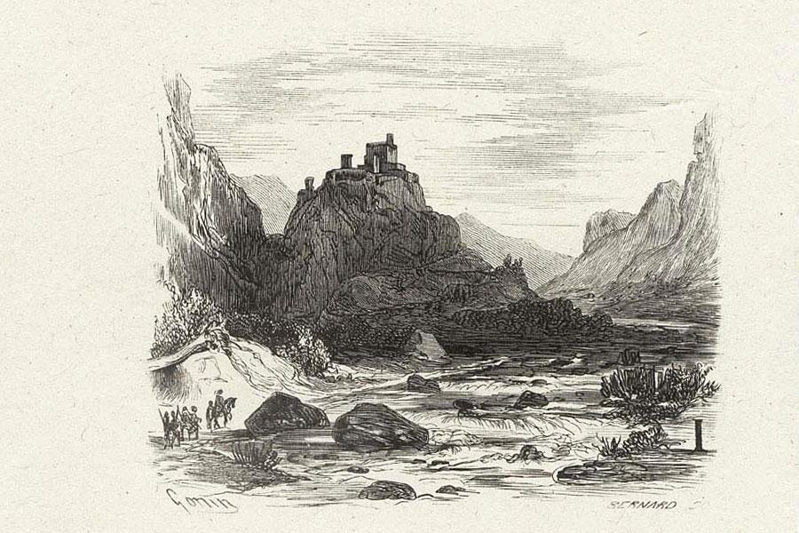 Castello dell'Innominato - Illustrazioni di Gonin