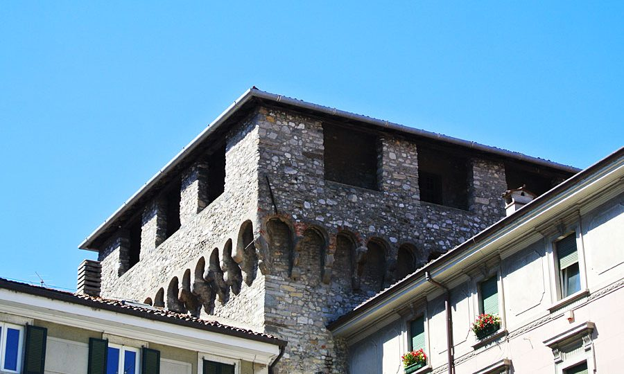 Castle of the village of Lecco