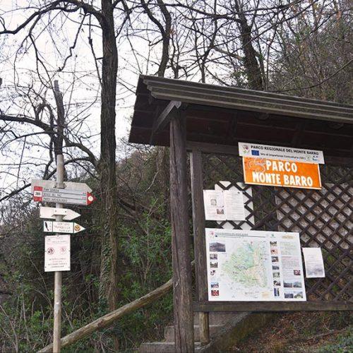 Partenza sentiero per Pian Sciresa - Monte Barro