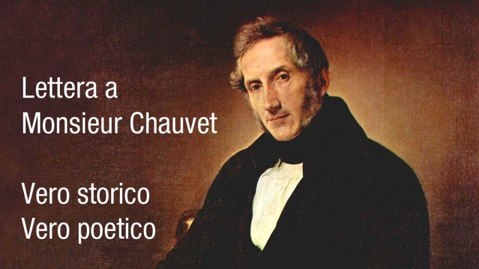 Manzoni vero storico vero poetico lettera monsieur Chauvet