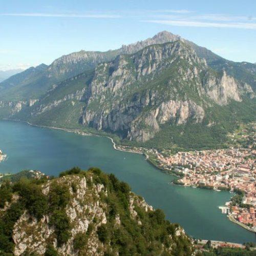 Lago di Lecco visto dal Monte Barro
