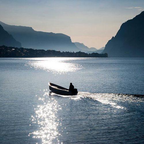 Pescatore sul Lago di Como