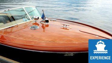 Riva motorboat private tour on Lake Como