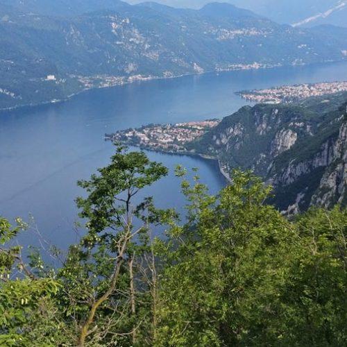 Panorama dalla Croce del San Martino sul lago di Como