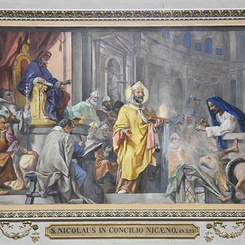 Affresco dedicato a San Nicolò -