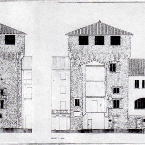 Torre Viscontea - Rilievo del Comune settore Patrimonio 1992