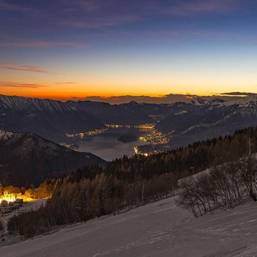 Tramonto dall'Alpe Giumello