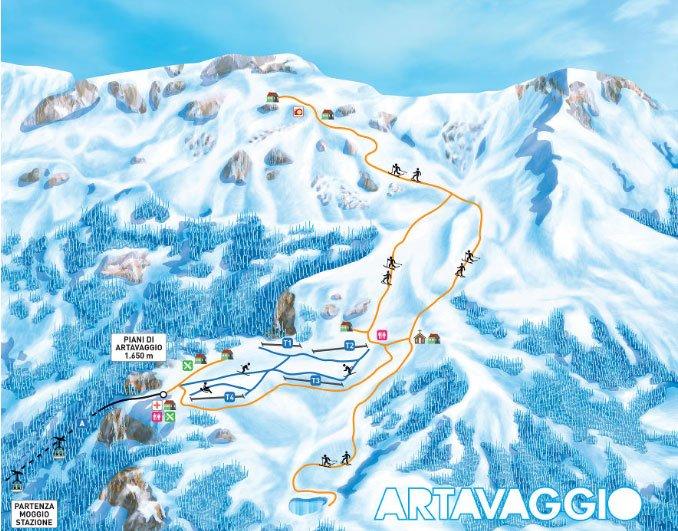 Piani di Artavaggio piste da sci